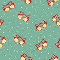 Seamless pattern whith sunglasses vintage ornament for packaging advertising posters greeting cards cartoon flat vector Royalty Free Stock Images