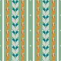Seamless pattern of wide vertical stripes with serpentine Royalty Free Stock Photo