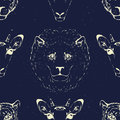 Seamless Pattern Of A Wild Ani...