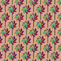 Vector seamless cute pattern with windmill toys Royalty Free Stock Photo