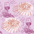 Seamless pattern wine and winemaking hand drawn chalkboard Royalty Free Stock Image