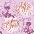 Seamless pattern - wine and winemaking