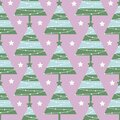 Seamless pattern for the winter theme of Christmas and New Year. New Year tree decorated with festive toys - balls, garlands and s Royalty Free Stock Photo
