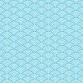 Seamless pattern witn blue waves. Vector illustration