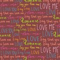 Seamless pattern of words Love. Freehand drawing.