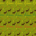 Seamless pattern with writing stag and arrow for hunters