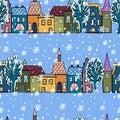 Seamless pattern with xmas design illustration christmas elements decorative background Royalty Free Stock Photo