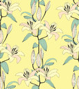 Seamless pattern with yellow flower Royalty Free Stock Image