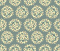 Seamless pattern with yellow flowers Stock Photography