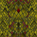Seamless pattern of yellow and green snake skin texture Royalty Free Stock Image