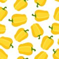 Seamless pattern of yellow pepper. Cartoon flat style. Vector illustration Royalty Free Stock Photo