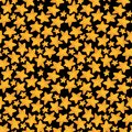 Seamless pattern of yellow star like cookies. Watercolor illustration