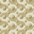 Seamless pattern yin yang symbols Royalty Free Stock Photos
