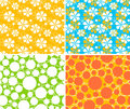 Seamless patterns Stock Images