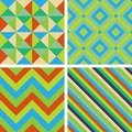 Seamless patterns abstract decorative geometric Royalty Free Stock Photography