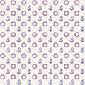 Seamless patterns anchors and lifebuoy vector illustrations Royalty Free Stock Photo