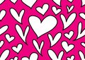 Seamless patterns with black hearts, Love background, heart shape vector, valentines day, texture, cloth, wedding, paper