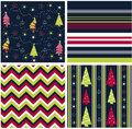 Seamless patterns, christmas fabric texture Royalty Free Stock Photos
