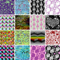 Seamless patterns collection Royalty Free Stock Photos