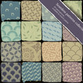 Seamless patterns collection. Royalty Free Stock Photos