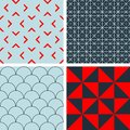 Seamless patterns with decorative ornament Royalty Free Stock Images