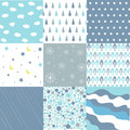 Seamless Patterns - Digital Scrapbook Stock Image