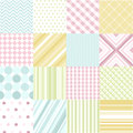 Seamless patterns with fabric texture Stock Photo