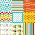 Seamless patterns with fabric texture set Royalty Free Stock Photo