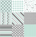 Seamless patterns with fabric texture set Stock Photos