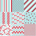 Seamless patterns with fabric texture set Royalty Free Stock Image