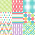 Seamless patterns with fabric texture set Royalty Free Stock Photos