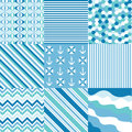 Seamless patterns with fabric texture set Stock Image