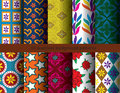 Seamless patterns flora ten background vector Stock Image