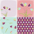 Seamless patterns with floral fabric texture Royalty Free Stock Photography
