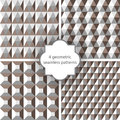 Seamless patterns geometric for your design Royalty Free Stock Photos