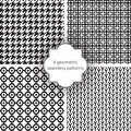 Seamless patterns geometric for your designs Stock Image