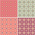 Seamless Patterns with hearts and flowers Royalty Free Stock Image