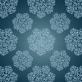 Seamless patterns with lace flowers in victorian s style blue Royalty Free Stock Images