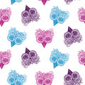 Seamless patterns of owls