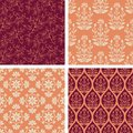 Seamless patterns in red and pink Royalty Free Stock Photography