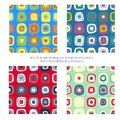 Seamless patterns with rounded rectangles