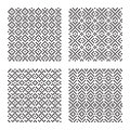 Seamless patterns set of geometrical eps Royalty Free Stock Images