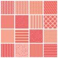 Seamless patterns with stripes, stars, bricks Royalty Free Stock Photo