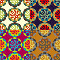 Seamless patterns from stylized flowers Royalty Free Stock Photo