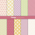 Seamless patterns vintage style set of ten Stock Photography
