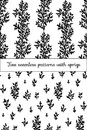 Seamless patterns wich sprigs