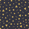 Seamless patterns in yellow colors with geometric elements. Pattern hipster style.