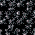 Seamless pearls beads jewelry pattern on black Royalty Free Stock Photo