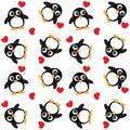 Seamless penguin pattern background texture interior Stock Image