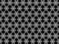 Seamless Pentagons shape snowflakes pattern on background.